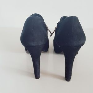 Tory Burch Shoes - TORY BURCH BLACK SUEDE BOOTIES